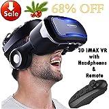 Casque en verre de réalité virtuelle VR avec télécommande et casque pour iPhone XR XS X 8 7 6 Plus, Samsung S9 S8 S7...
