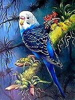 ダイヤモンドの絵画 5Dダイヤモンド絵画鳥クロスステッチ動物ダイヤモンド刺繡オウムラインストーンモザイク家の装飾