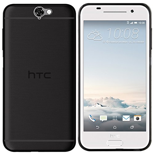 moodie Silikonhülle für HTC One A9 Hülle in Schwarz - Hülle Schutzhülle Tasche für HTC One A9