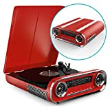 Vinyl Record Player with Built In Speakers, Vintage Design Music Centre with Bluetooth