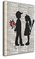 バンクシー アートパネル アート ポスター アートフレーム モダン 壁掛けアート アートボード インテリア 絵 絵画 部屋飾り 壁掛け 玄関 木枠セット(30*45cm)