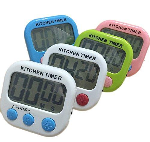 Demarkt Digitale keukentimer kookwekker timer keukenklok - Count Down Up timer met wekker stopwatch met LCD-display