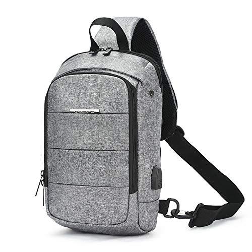 CMZ Backpack Men's Chest Bag USB Simple Waterproof Shoulder Bag Men's Messenger Bag Trendy Fashion Outdoor Sports Chest Bag