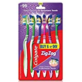 Colgate ZigZag Toothbrush - Medium (Pack of 6)