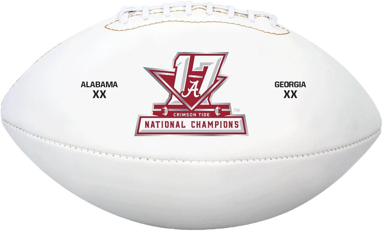 NCAA Alabama Crimson Tide Full Size Football, White