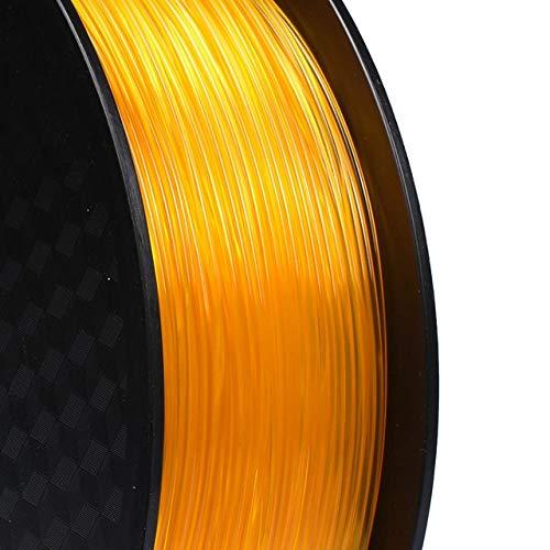 DZWLYX Stampante 3D filamento PLA 1,75 Millimetri 1KG plastica filamento Materiale RepRap Createbot/MakerBot for Parti della Stampante 3D / Penna 3D (Color : Transparent Orange)