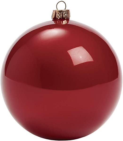 Sullivans 珍珠猫眼石玻璃球圣诞摆件 4 件套 4 红色