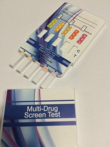 10 Panel Dip Drug Testing Kit, Test for 10 Different Drugs. (2 Pack)