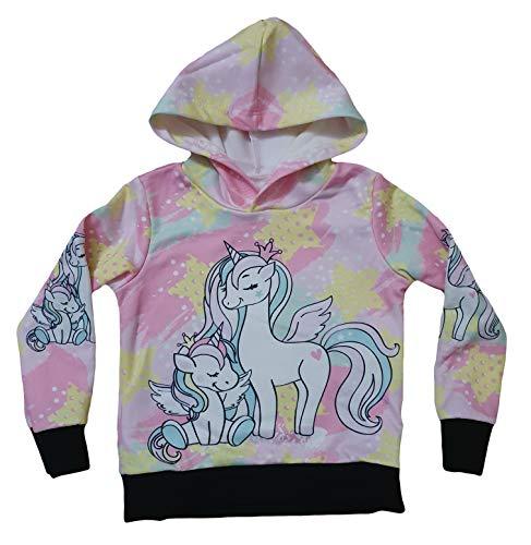 Generic Kinder Einhorn Pullover Kapuzenpullover Hoodie Sweatshirt Unicorn Mädchen (Einhorn Engel, 128 / 134)