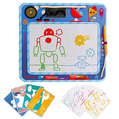 Multi-Function Magnetic Drawing Board, Robot Doodle Drawing Board, Erase Book Pen Toys Painting Doodle Games for Children Girls Educational Writing, Kindergarten Preschool Reusable Creative Toy