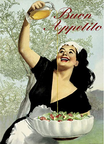 Buon Appetito, Imported From Florence Italy, Vintage Italian Poster on Heavy Canvas Finish Paper, 20 X 28 (50x70cm)