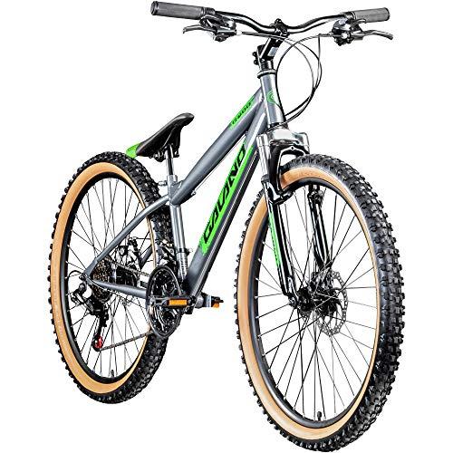 Galano Dirtbike 26 Zoll MTB G600 Mountainbike Fahrrad 18 Gang Dirt Bike Rad (grau/grün, 33 cm)