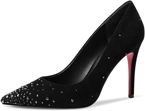 JIANXIN Souliers Simples De Printemps Et D'été pour Femmes avec des Talons Aiguilles Simples Et des Chaussures à Talons Hauts. (Taille   EU 39 US 8 UK 6 JP 25cm)