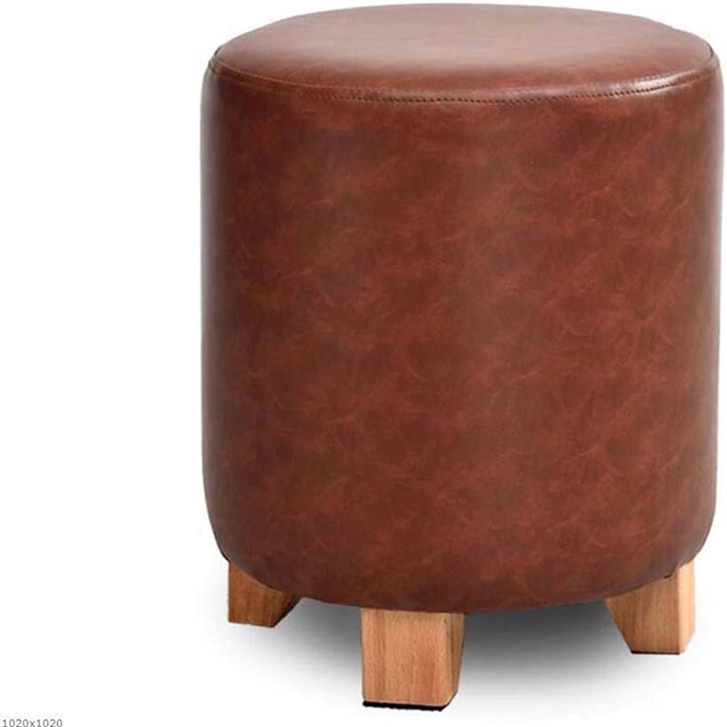 Solid Wood Leather Stool Sofa Stool Stool Stool Dressing Stool Creative shoes Bench shoes Bench,B,Large