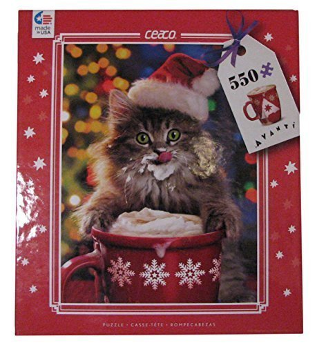 Ceaco Avanti Christmas - Cocoa Kitty - Holiday Puzzle (550 Piece) by Ceaco