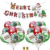 Globos de Navidad Decoraciones de Fiesta Feliz 23pcs,Merry Christmas Bandera...