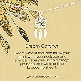 Dream Catcher Sterling Silver Necklace 17'' Length