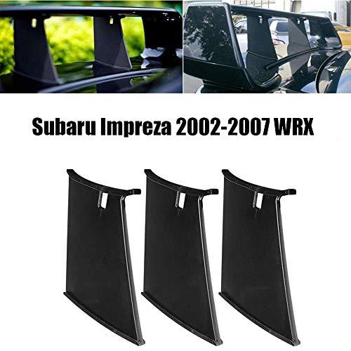 QQKLP Neue Auto-hintere Spoiler-Flügel Stabilisator Autostandplatz Fit für Subaru Impreza 2002-2007 WRX Sti Stiffi Spoiler Stütze Stabilisator,3pcs