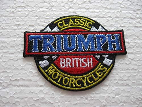 Patch - Triumph Flyer - Auto - Motorrad - Motorcycle- Motorsport - Racing Car Team - Classic - Patches - Aufnäher Embleme Bügelbild Aufbügler
