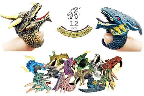 Dragon Rings Spielzeug , CALL OF THE MAGIC Gragon Figuren Pädagogisches Spielzeug Interaktiv für Rollenspiele D&D Fünf-färbig-Dragon / Metal-Dragon / Edelstein-Dragon , 12 Pcs