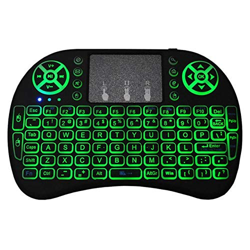 Bluetooth Ultra-thin Wireless Keyboard, Compact 2.4g Handheld Touch Keyboard with Usb Receiver and Rechargeable Lithium Battery, Suitable for Mobile Smart Tv Box Android Ios Windows
