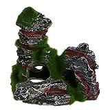 jhuhgf81254 Jigging Hook Acuario pecera Ornamento rocalla Ocultar Cueva Musgo Paisaje decoración submarina