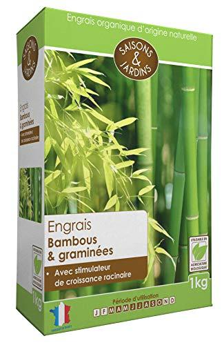R'Garden Engrais Bambous et Graminées avec Stimulateur de Croissance Racinaire - Utilisable en Agriculture Biologique