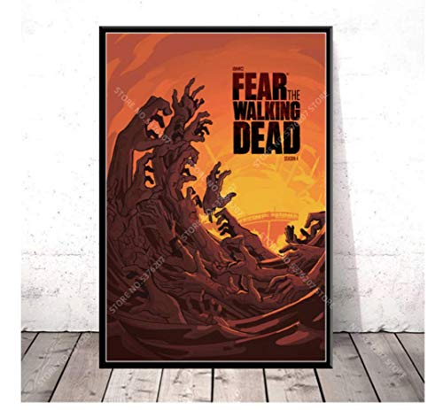 shifangtrade Poster su Tela Fear The Walking Dead Serie TV Zombies Wall Art Canvas Painting Poster Poster E Stampe 50 * 70Cm Senza Cornice