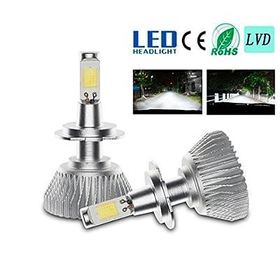 LED Car Lights,Tuscom@ 60W 6000LM H4/9..5/H1//H7/H11 LED Light Headlight Vehicle Car Hi/Lo Beam Bulb Kit 6000k White