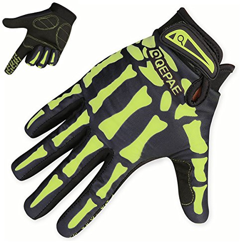 TRIWONDER Cycling Gloves Mountain Road Biking Riding Gloves Breathable Wear-Resisting Shock-Absorbing for Men and Women (Green - Full Finger, M)