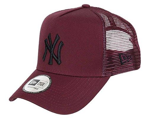 New Era Gorra para Hombre League Essential Trucker York Yankees, Color marrón y Negro, 9Forty A-Frame, Talla única