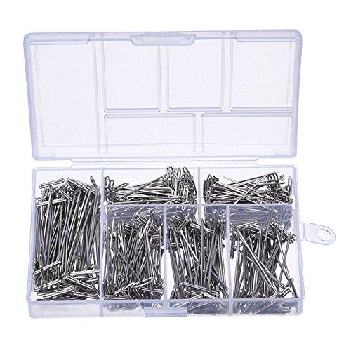 Vaorwne 450 pieces T-2pingles en acier plaque nickel 1 pouce, 1-1/4 pouce, 1-1/2 pouce, 1-3/4 pouce, 2 pouces