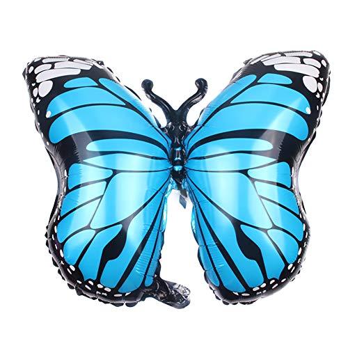 Jingyuu Ballon en Aluminium Mignon Ballon en Forme de Papillon Bleu Décoration Mariage Anniversaire Fête Vacances 1PCS