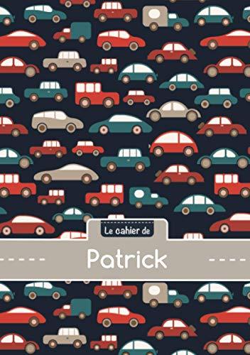 Cahier patrick - Blanc,96p,A5 - Voitures