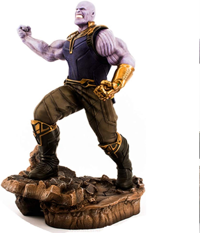 Jia He Action Figur Thanos The Avengers 3 Unendliche Kriegszeichen-Vernichtung, die Tyrant-Puppe-Modell-Puppe mit einer Basis, handgefertigte Ornamente der Kinder @@