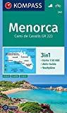 KOMPASS Wanderkarte Menorca: 3in1 Wanderkarte 1:50000 mit Aktiv Guide und Stadtplänen. Fahrradfahren.: Wandelkaart 1:50 000 (KOMPASS-Wanderkarten, Band 243)