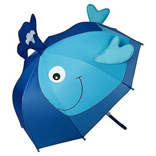 VON LILIENFELD Regenschirm Kinderschirm Wal Junge Mädchen Kids Leicht Sicher Meer Fisch bis ca. 8 Jahre