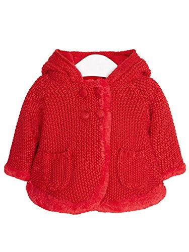 Mayoral 18-02316-072 - Strickjacke Pompom für Baby - Mädchen 0-1 Monat (55cm) Paprika