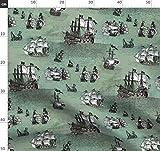 Pirat, Schiff, Maritim, Ozean, Meer Stoffe - Individuell