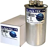ClimaTek Capacitor Direct Replacement for Carrier HC98JA046-45 + 5 uf MFD 370 Volt VAC Round