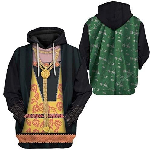 Sudadera con capucha para mujer, diseo de Ana de Cleves/Catalina la Gran Impresin 3D Histrica, sudadera con capucha histrica, uniforme de guerra revolucionario