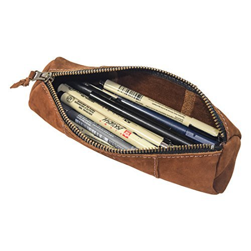 Hide & Drink, Rustic Leather Cylinder Case (Keys, Office & School Supplies, Change, Personal Items, Cables & Dongles) Raw Sueded Interior, Handmade Includes 101 Year Warranty :: Swayze Suede