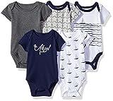 Hudson Baby Unisex Cotton Bodysuits, Sailboat, 18-24 Months