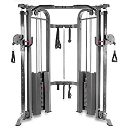 XMark Functional Trainer Cable Machine with Dual 200 lb Weig...