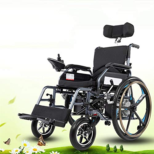 NIGHT WALL Heavy Duty Electric Powered Wheelchair for Adults, Approved for Air Travel,Folding Motorized Wheelchair for Home and Outdoor use motorized wheelchair