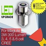 MagLite compatible MAG-NUM STAR II bi-pin LED bulb Conversion/upgrade for MagLite Torch/flashlight 3-6