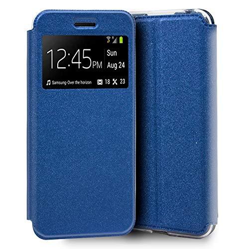 iGlobalmarket Funda Flip Cover Tipo Libro con Tapa para Huawei Y5 (2019) Liso Azul
