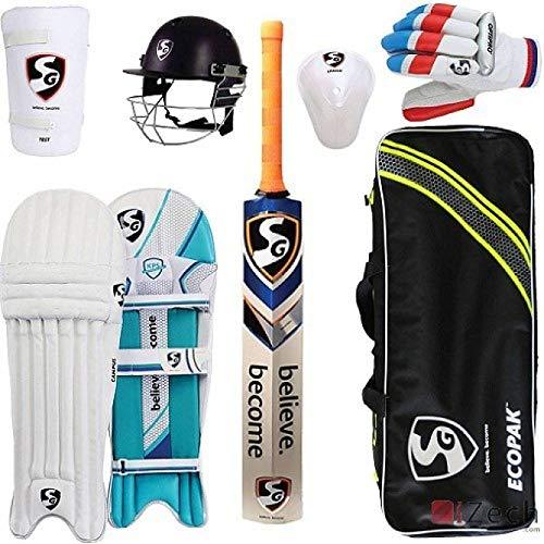 SG Full Cricket Kit with English Willow Cricket Bat (Full Size) Cricket Kit