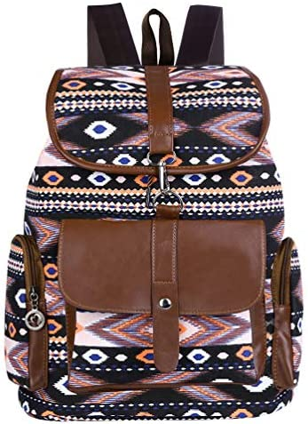 VBIGER Women Canvas Backpack Drawstring School Backpacks Casual Outdoor Daypack All match Travel product image