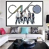Cuadro en lienzo Cnco grupo musical cantante estrella póster impresiones pared arte imagen dormitorio hogar Bar decoración sin marco 50 * 70Cm